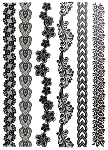 Lace Pattern Temporary Tattoo Bands
