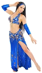 CAIRO COLLECTION: Professional Belly Dance Costume from Egypt - ROYAL BLUE / GOLD