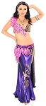 CAIRO COLLECTION: Professional Belly Dance Costume from Egypt - PURPLE / FUCHSIA