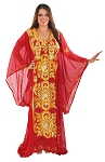 CAIRO COLLECTION: Traditional Khaleeji Thobe Dress - MAROON / GOLD