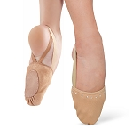 Canvas Half Body Foot Sole Dance Shoe - MEDIUM NUDE W/ RHINESTONES