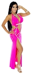 Modern Egyptian Belly Dance Costume Dress - HOT PINK
