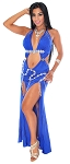 Modern Egyptian Belly Dance Costume Dress - ROYAL BLUE