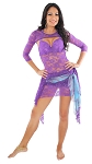 3-Piece Lace Dance Costume with Shrug - PURPLE