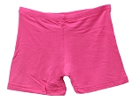Kids Size Comfortable Stretchy Dance Shorts - DARK PINK