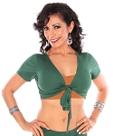 Comfy Short Sleeve Choli Dance Top - JADE GREEN