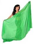 3-Yard Chiffon Veil for Belly Dance - GREEN