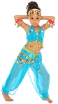 Little Girl's Sparkle & Shine Costume - TURQUOISE