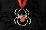 Halloween Witch Costume Black Widow Spider Necklace