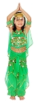 Little Girls Bollywood Princess Belly Dancer Costume - GREEN