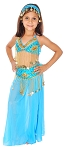 Little Girl's Beaded Belly Dance Costume - TURQUOISE