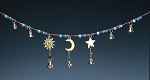 Celestial Garland with Glass Beads & Brass Bells