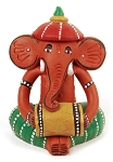 Terracotta Tribal Elephant Drummer
