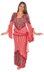 CAIRO COLLECTION - Beaded Saidi / Beledi Dress with Matching Hipwrap / Headscarf - RED / WHITE / BLACK