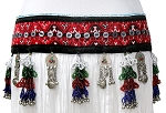 Afghani Kuchi Tribal Textile Belt with Beaded Tassels and Bells