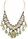 Deluxe Afghani Tribal Teardrop Necklace - JADE