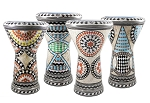 Doumbek/Tabla (Egyptian Drum) with Mother of Pearl Mosaic Inlays - ASSORTED / ONE OF A KIND