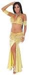 CAIRO COLLECTION: Professional Belly Dance Costume from Egypt - LEMON GOLD