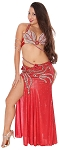 CAIRO COLLECTION: Professional Belly Dance Costume from Egypt - METALLIC RED