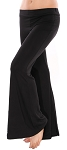 Flared Bottom Yoga Dance Pants - BLACK