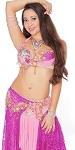 CAIRO COLLECTION: Professional Belly Dance Costume from Egypt - MAGENTA & PINK