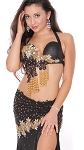 CAIRO COLLECTION: Professional Belly Dance Costume from Egypt - BLACK / GOLD