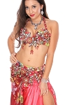 CAIRO COLLECTION: Professional Belly Dance Costume from Egypt - BERRY FIESTA