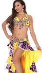 CAIRO COLLECTION: Professional Belly Dance Costume from Egypt - SPRING BOUQUET