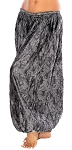 Brocade Full Pantaloons Tribal Harem Pants - BLACK / SILVER