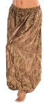Brocade Full Pantaloons Tribal Harem Pants - DARK GOLDEN BRONZE