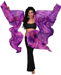 Silk Fan Veils Dance Prop (Set of 2) - Tie Dye - ORION