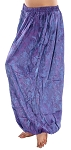 Brocade Full Pantaloons Tribal Harem Pants - PURPLE / BLUE