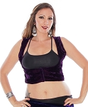 Velvet Turkish Scoop Neck Vest - DEEP PURPLE