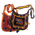 Embroidered Shisha Elephant Bag with Mirrors, Bells, and Tassels