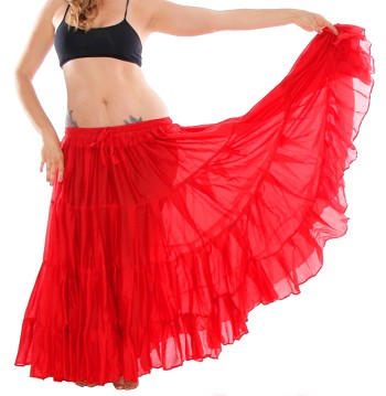 25 Yard Tribal Gypsy Skirt - RED