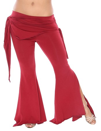 Tribal Fusion Gothic Belly Dance Pants SIZED - BURGUNDY