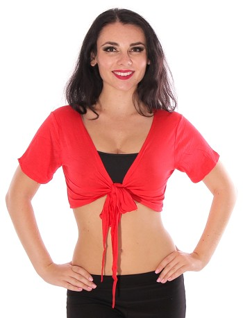 Comfy Short Sleeve Choli Dance Top - RED