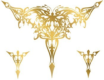 Custom Metallic Gold Temporary Flash Tattoo - TRIBAL