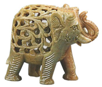 Hand-carved Soapstone Elephant Statue