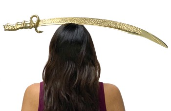 Ornate Brass Balancing Scimitar Belly Dance Sword - GOLD