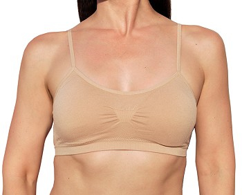Seamless Bralette Sports Bra With Removable Padding- BEIGE