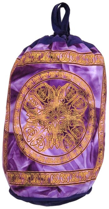Celtic Mandala Tie Dye Print Backpack - PURPLE