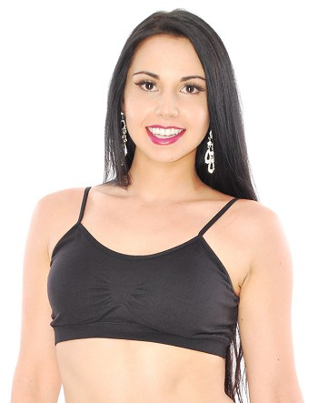 Seamless Bralette Sports Bra With Removable Padding - BLACK