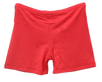 Kids Size Comfortable Stretchy Dance Shorts - RED
