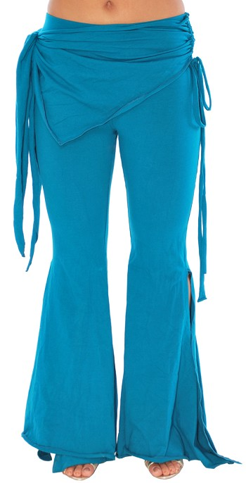 Tribal Fusion Gothic Belly Dance Pants SIZED - TEAL