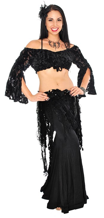 Gothic Witchy Voodoo Queen Belly Dance Costume