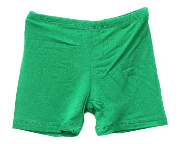 Kids Size Comfortable Stretchy Dance Shorts - GREEN