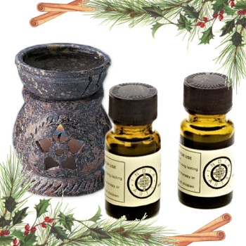 Aromatherapy Oil Holiday Gift Set with Pine & Cinnamon