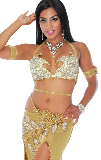 CAIRO COLLECTION: Professional Belly Dance Costume from Egypt - ANTIQUE GOLD