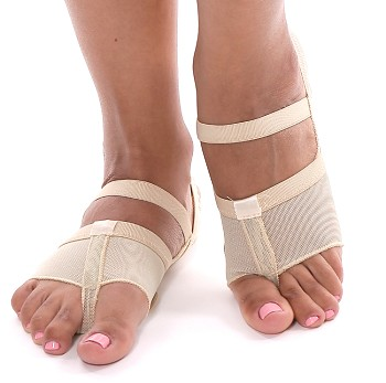 Split Sole Fabric Dance Shoe - BEIGE